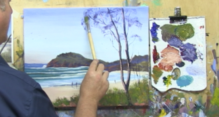 "Learn To Paint TV E1 ""Cabarita Beach"" Acrylic Painting Tutorial For Beginners"