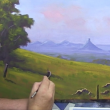 "Learn To Paint TV E6 ""The Glass House Mountains"" Acrylic Painting Tutorial."