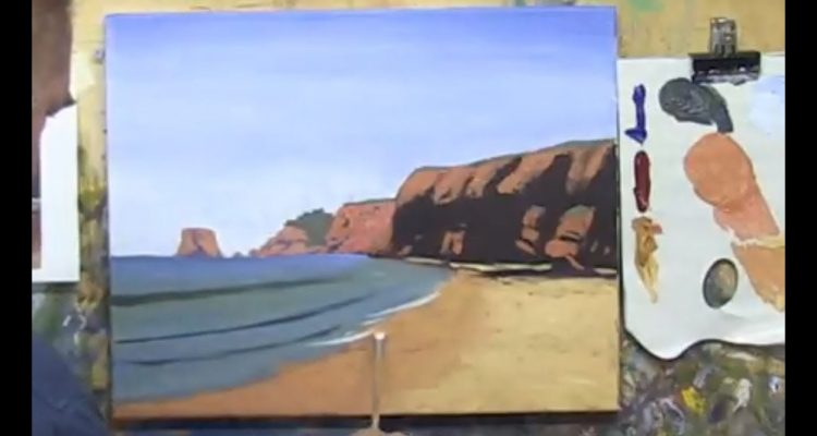 """Learn To Paint TV E12 """"Aireys Inlet Lighthouse"""" Seascape Painting in Acrylica"""