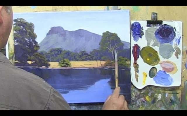 """Learn To Paint TV E10 """"Southern Grampians Reflections"""" Painting Reflections in Acrylic Beginners"""