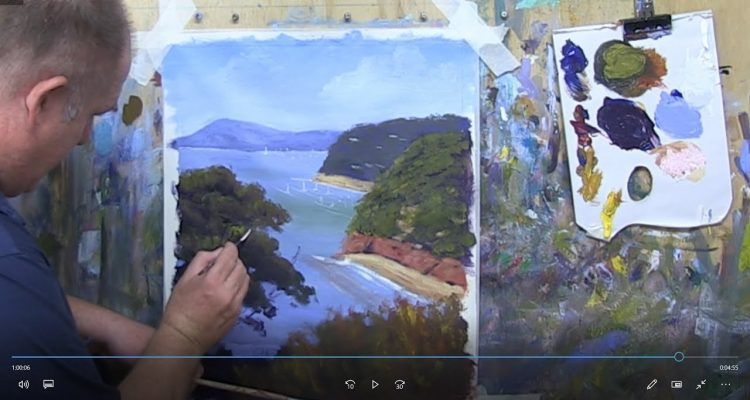 """Learn To Paint TV E15 """"Sorento View"""" Seascape Painting in Acrylic Paint For Beginners Step By Step"""