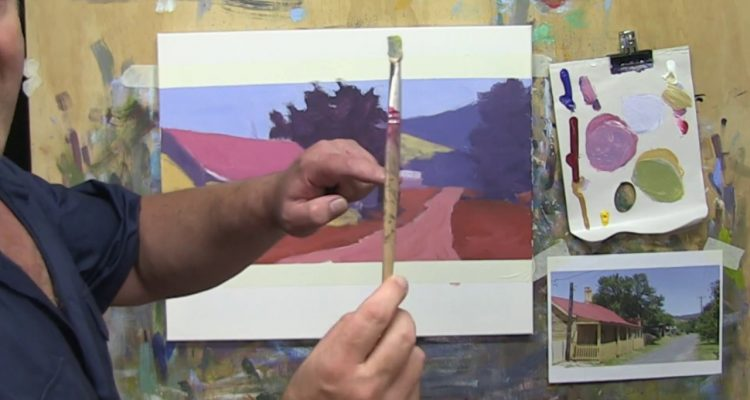"""Learn To Paint TV E13 """"Sofala Cottage"""" Landscape Painting in Acrylic Paint Beginners Tutorial."""