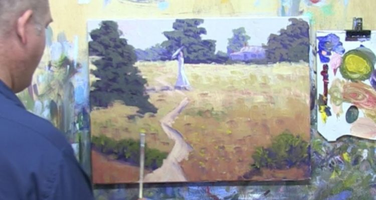 """Learn To Paint TV E16 """"Country Walk In Summer"""" Landscape Painting in Acrylic Paint For Beginners."""